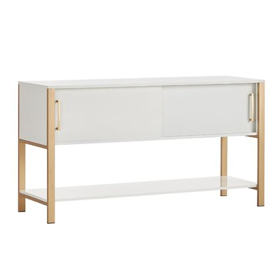 Asmus White and Gold TV Stand
