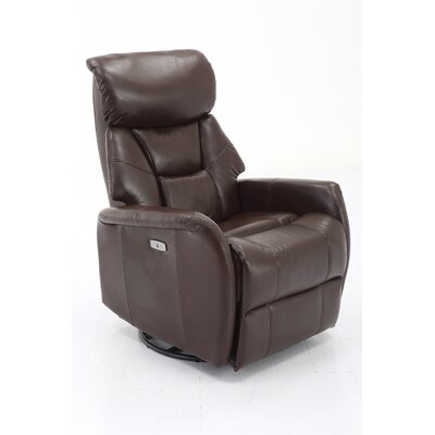 Grip Power Swivel Recliner Upholstery: Angus Brown