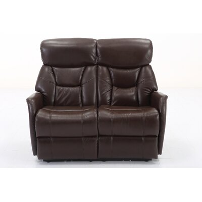 Grip Dual Reclining Loveseat Upholstery: Angus Brown