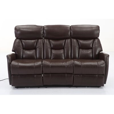 Grip Dual Reclining Sofa Upholstery: Angus Brown