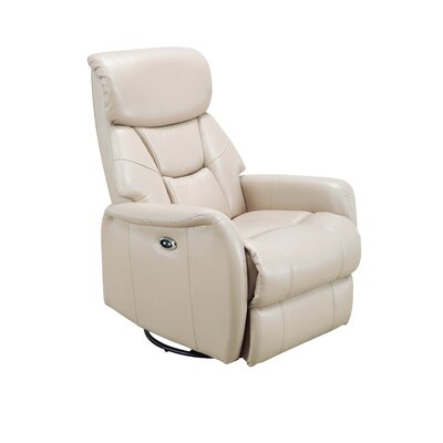 Grip Power Swivel Recliner Upholstery: Light Cobblestone