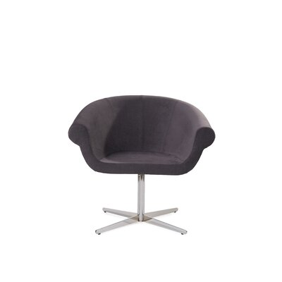 Mazzola Swivel Barrel Chair Upholstery: Fabric Gray