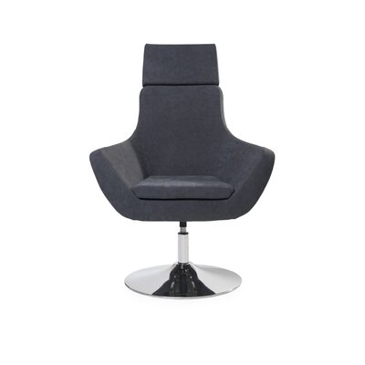 Mcabee Swivel Lounge Chair Upholstery: Gray