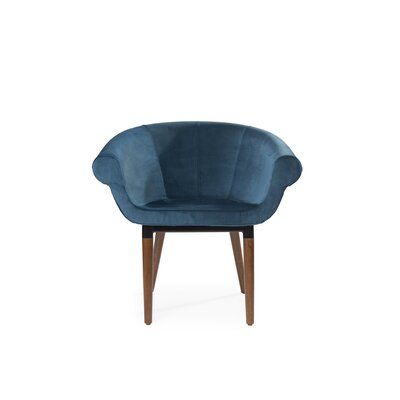 Mazzola Swivel Barrel Chair Upholstery: Velvet Blue