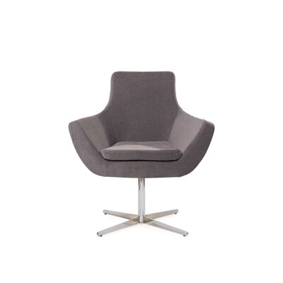Mazzone Swivel Lounge Chair Upholstery: Gray