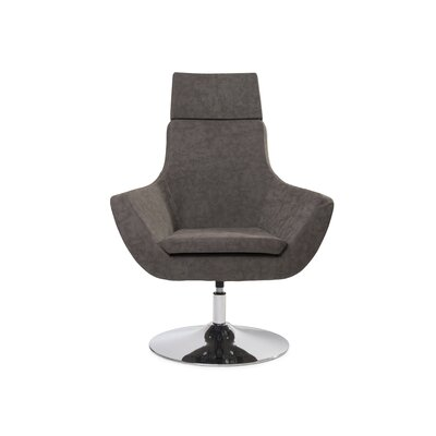Mcabee Swivel Lounge Chair Upholstery: Brown