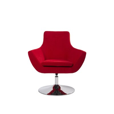 Mazzone Swivel Lounge Chair Upholstery: Red