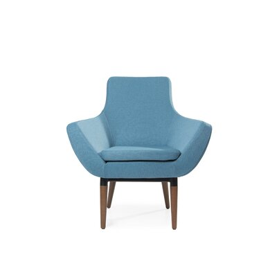 Mazzone Swivel Lounge Chair Upholstery: Blue