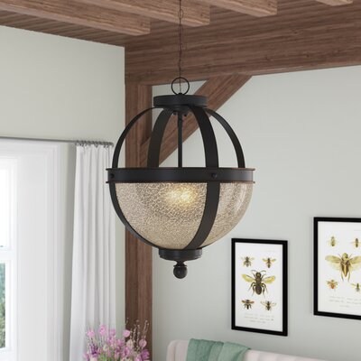 Doris 2-Light Bowl Pendant Shade Color: Mercury