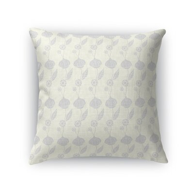 Gossan An Elegant Trail of Flowers Light Throw Pillow Color: Cream, Size: 16 x 16