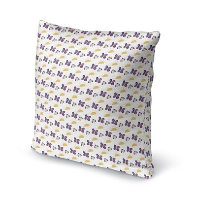 Kornet Butterflies and Sunshine Throw Pillow Size: 18 x 18