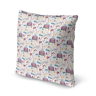 Subedi Candy Castle Throw Pillow Size: 18 x 18