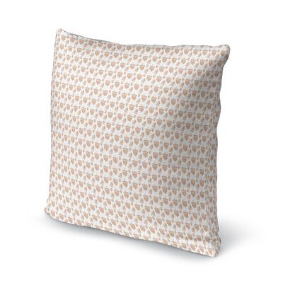 Garett Acorns Throw Pillow Size: 16 x 16