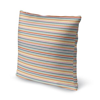 Carlo Carnival Stripe Throw Pillow Size: 16 x 16