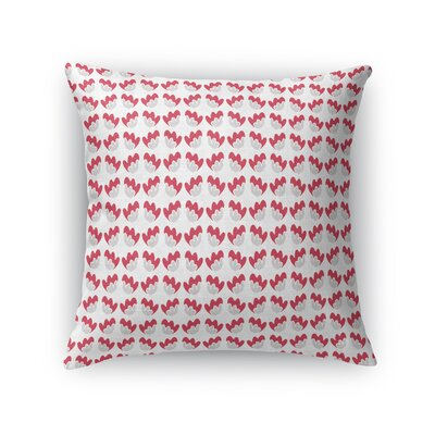 Fortney Flower Bright Throw Pillow Color: Red, Size: 16 x 16