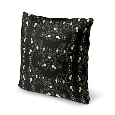 Rayleigh Elegant Behold Floral Throw Pillow Size: 16