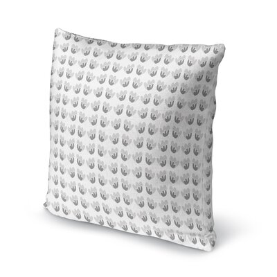 Fortney Flower Bright Throw Pillow Color: Gray, Size: 24 x 24