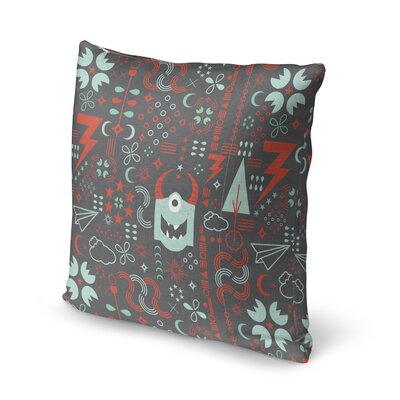 Kalish Kids Electricland Creature Throw Pillow Size: 24 x 24