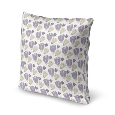 Bradgate Blossom Soft Throw Pillow Color: Light Purple, Size: 18 x 18