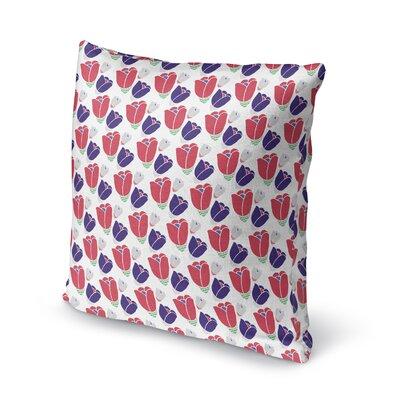 Bradgate Blossom Soft Throw Pillow Color: Purple, Size: 18 x 18