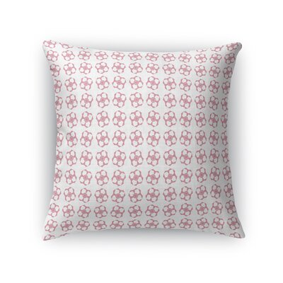 Jamarcus Geometric Flower Throw Pillow Size: 16 x 16