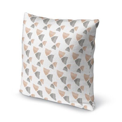 Mcanulty Throw Pillow Color: Peach, Size: 18 x 18