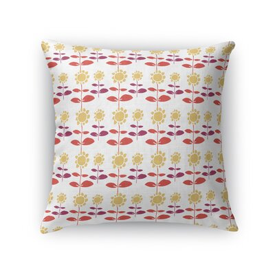 Jamarion Growing Up Sunflower Throw Pillow Size: 18 x 18