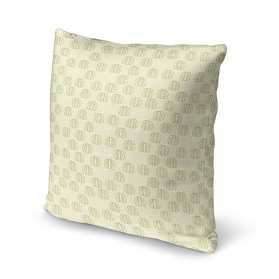 Jakubowski Flower Maze Throw Pillow Size: 16 x 16