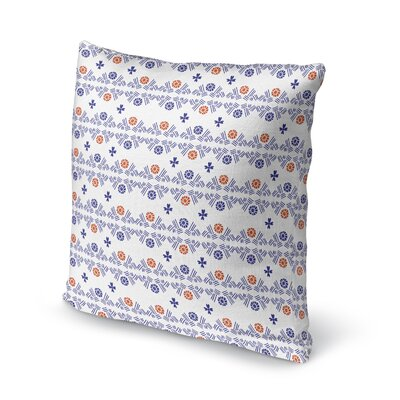 Macdonald Flower Hatch Bright Throw Pillow Color: Blue, Size: 16 x 16