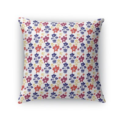 Tabinowski Potted Plant Throw Pillow Size: 16 x 16