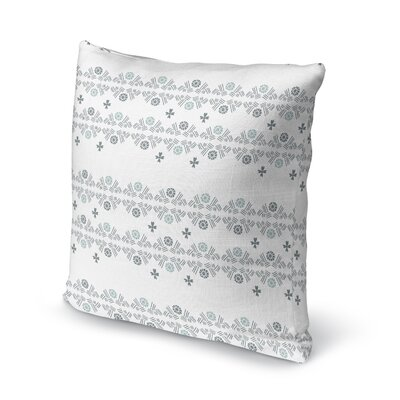 Macdonald Flower Hatch Bright Throw Pillow Color: Gray, Size: 18 x 18