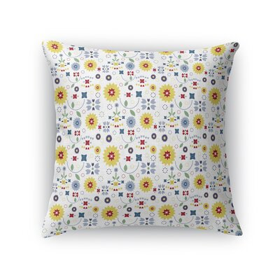 Slivon Garden Throw Pillow Size: 18 x 18