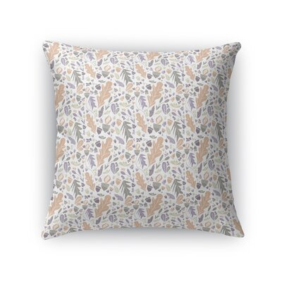 Jamestown Huntersland Bright Throw Pillow Color: Peach, Size: 18 x 18