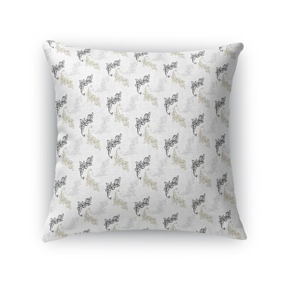 Waring Luxury Leaves Throw Pillow Size: 24 x 24