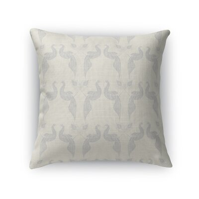 Singkil Peacock Queen Throw Pillow Color: Neutral, Size: 18 x 18