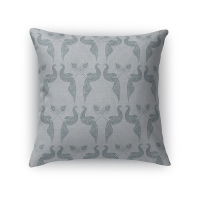 Singkil Peacock Queen Throw Pillow Color: Blue/Gray, Size: 18 x 18