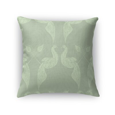 Singkil Peacock Queen Throw Pillow Color: Green, Size: 16 x 16