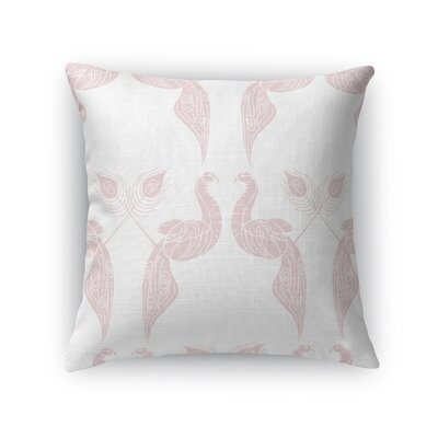 Singkil Peacock Queen Throw Pillow Color: Pink, Size: 18 x 18