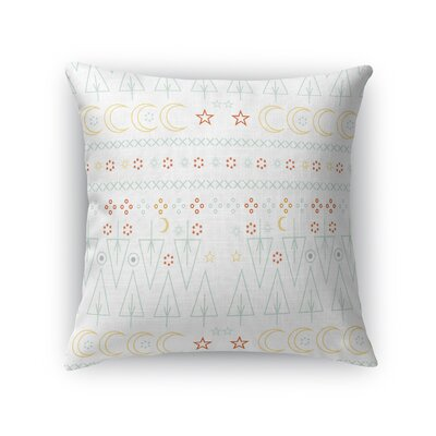 Patterson Nighttime Forest Moon and Stars Throw Pillow Size: 18 x 18