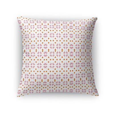Jalbert Flowers and Pearls Throw Pillow Size: 18 x 18