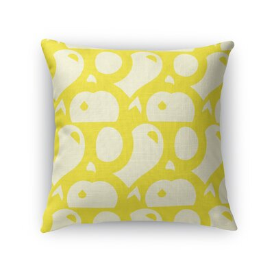 Dorr Pinball Abstract Game Throw Pillow Color: Yellow, Size: 16 x 16