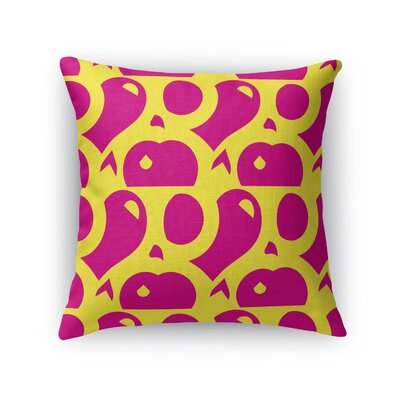 Dorr Pinball Abstract Game Throw Pillow Color: Pink, Size: 18 x 18