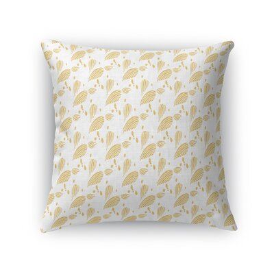 Carolus Seashell Fabric Throw Pillow Size: 18 x 18