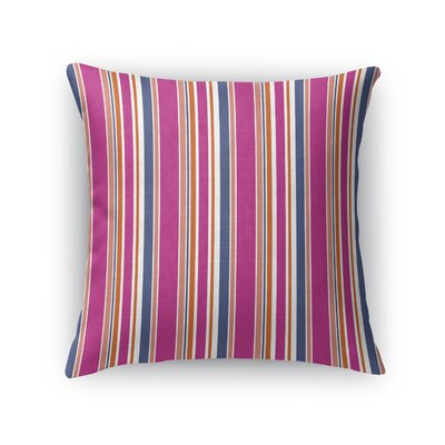 Shehorn Party Stripe Throw Pillow Size: 18 x 18