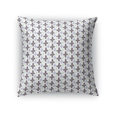 Crafa Positivity Flowers Throw Pillow Size: 16 x 16