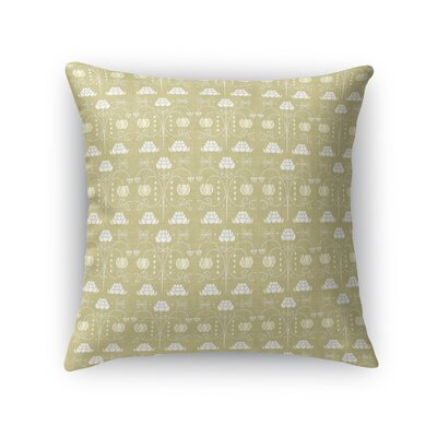 Jankowski Royal Luxury Throw Pillow Color: Cream, Size: 16 x 16