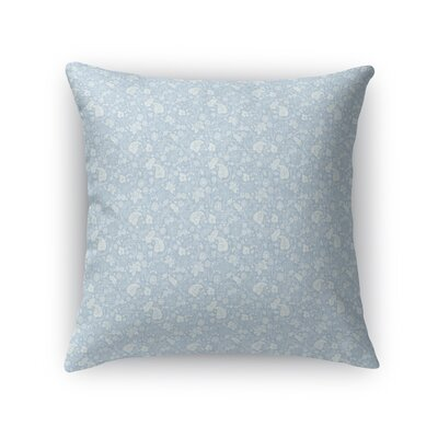 Warnick Spring Fields Throw Pillow Color: Blue, Size: 18 x 18