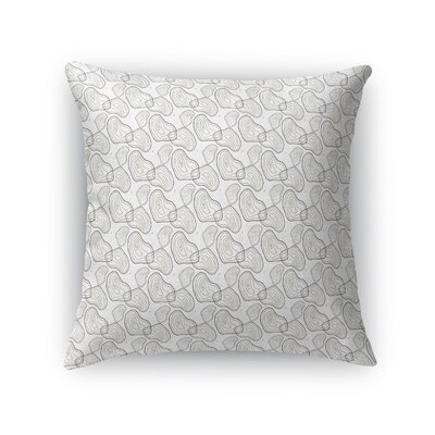 Deakins Anniversary Tree Rings Throw Pillow Color: Gray, Size: 24 x 24