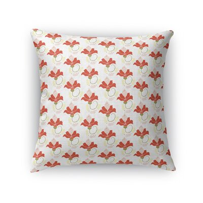 Jamaica Avenue French Flowers Throw Pillow Size: 16 x 16