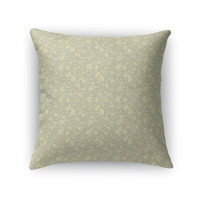 Warnick Spring Fields Throw Pillow Color: Yellow, Size: 16 x 16